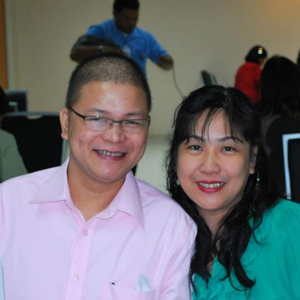 Dr. Johnel Candava, L (Leukemia Patient) with wife Ms. Emmalyn Candava