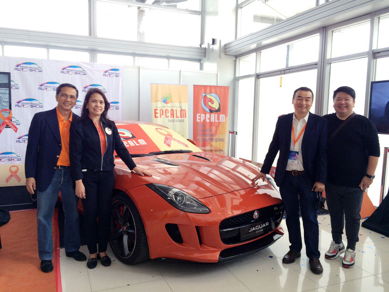 Epcalm officers and this writer during the opening day of the 2015 Manila International Auto Show (MIAS)