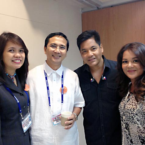Martin Nievera (second from right) with (from left) EPCALM founder Erlyn Cabanag-Demerre, Justice Demerre and Vicky Nievera